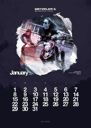 Календарь Metzeler 2017 — Natural Born Lady Rider / Мотоновости / БайкПост